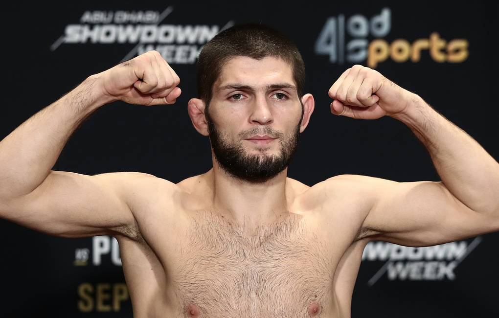 official-weigh-in-ceremony-for-ufc-lightweight-fighters-nurmagomedov-and-poirier